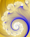 Frilly spiral Stock Images