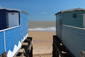 Frinton on sea essex uk a hot english summer s day in Stock Photo