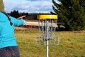 Frisbee golf Royalty Free Stock Photo