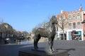 Frisian horse statue, Leeuwarden, Holland Royalty Free Stock Photo