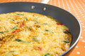 Frittata in a Skillet Royalty Free Stock Photography