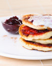 Fritters of cottage cheese Royalty Free Stock Photo