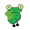 Frog cartoon art vector illustration green Royalty Free Stock Images