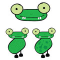 Frog cartoon vector art illustration