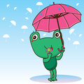 Frog cute umbrella Royalty Free Stock Photo