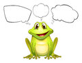 A frog with empty callouts illustration of on white background Stock Photo