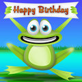 Frog happy birthday