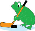 Frog Hockey Stock Image