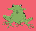 Frog illustration of a nice Stock Photo
