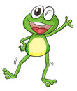 A frog illustration of on white background Royalty Free Stock Images