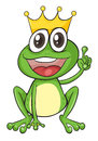 A frog illustration of on white background Royalty Free Stock Photo