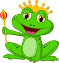 Frog king cartoon illustration of Stock Image