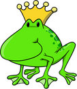 Frog king Vector Illustration Stock Image