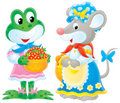 Frog and mouse Stock Images