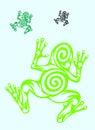 Frog ornate Royalty Free Stock Photo