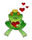 Frog prince with heart Royalty Free Stock Photo