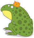 Frog prince illustration of a Stock Image