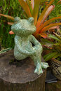 Frog sculpture in the garden Royalty Free Stock Photo