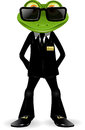 Frog security guard Royalty Free Stock Image