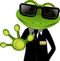 Frog security guard2 Royalty Free Stock Image