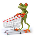 Frog shopping Royalty Free Stock Photo