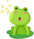 Frog singing Stock Photos
