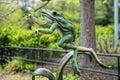 Frog statue at washington zoo Stock Photography