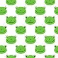 Frog vector pattern, seamless pattern, flat frog cartoon background
