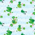 stock image of  Frog seamless pattern