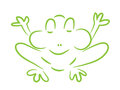 Frog on a white background Royalty Free Stock Images