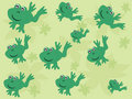 Frogs pattern Stock Photography