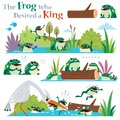 The frogs who desired a king Royalty Free Stock Photo