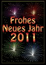 Frohes Neues Jahr 2011 greeting card Stock Photography
