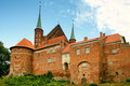 Frombork cathedral back view poland july walls behind built in gothic style in this nicolaus copernicus was buried Stock Images