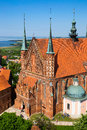 Frombork cathedral famous church in poland europe Royalty Free Stock Photography