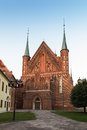 Frombork cathedral place where nicolaus copernicus was buried poland Royalty Free Stock Images