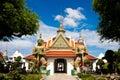 Front of arun temple in bangkok thailand Royalty Free Stock Photos