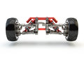 Front axle with suspension and sport gas absorbers Royalty Free Stock Photo
