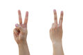 Front and Back of Positive Hand Sign Royalty Free Stock Photography