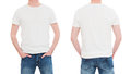 Front and back view tshirt template.