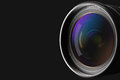 Front of the camera lens Royalty Free Stock Photo