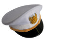 The front cap of thailand goverment officer on a white background Royalty Free Stock Photography