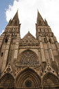 Front of cathedral Notre Dame de Bayeux, France Stock Photography