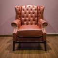 Front Classic luxury Brown armchair Royalty Free Stock Images