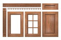 Front collection of wooden doors, drawer, column, cornice for kitchen cabinet