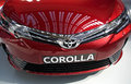 Front details of 2017 Toyota Corolla SX Sedan vehicle Royalty Free Stock Photo