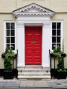 Front Door of a Beautiful House Royalty Free Stock Photo