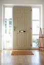 Front Door Of Contemporary Family Home Royalty Free Stock Photo