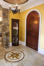 Front Door and Foyer of Luxury Home Royalty Free Stock Photos