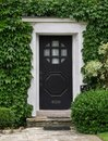 Front door with ivy Royalty Free Stock Photo